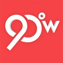 90 Degrees West Logo